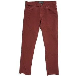 J Brand Mens Jeans Size 30 Tyler Slim Fit Red